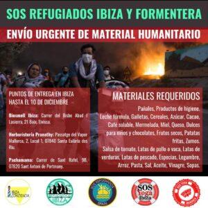 "Campanya de recollida de material humanitari de ""SOS Refugiados Ibiza"""