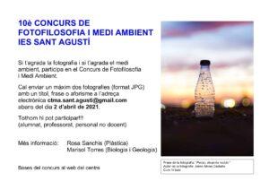 X CONCURS FOTOFILOSOFIA I MEDI AMBIENT